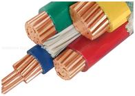 kualitas baik Berisolasi XLPE kabel Power & Kabel 1000V Tembaga konduktor PVC Insulated Disesuaikan Dengan Tiga Setengah Inti Dijual